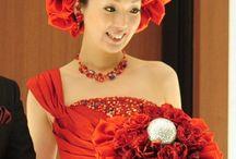 wedding bouquet(赤系)