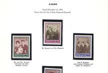 AJMAN Stamps JFK / 1967 AJMAN MEMORIAL ISSUE John F. Kennedy 50th Birthday Set Stamps.