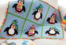 What's New - Crochet - Playful Penguins Blanket
