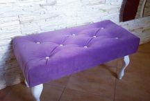 Podnóżki / Footstools / Ławeczki, podnóżki, siedziska, footstool, small bench.