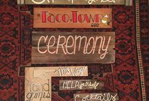 Hand Painted Signs / Hand lettered wedding signs, home decor & more.