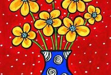 POPPIES AND VASES ART