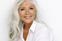 Silver Foxes / Growing old gracefully by embracing the beautiful, salt and pepper, and silver hair color.
