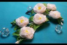 wonderful fabric n ribbon flower