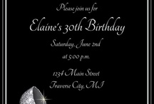 Party invites / All about me