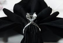 midnight ♥ / Shades of silver, black, and purple for weddings