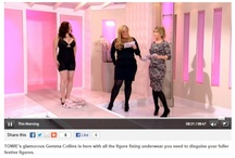 Fit Britches clinically proven shapewear featured on This Morning show