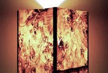Ξύλινα επιτραπέζια φωτιστικά / Wooden and veneer table lamps / Χειροποίητα φωτιστικά από ξύλο και καπλαμά.