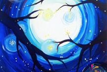 Paint Night at Home / Any night can be paint night! And on the cheap. Grab a brush and give it a shot!