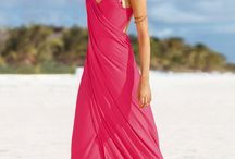 Summer beach / Beach and woman's