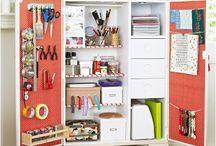 Crafts organized / Craft cupboard