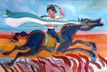 Gauchos argentinos / Diego Manuel   Artist Painter Sculptor. Abstract Art Surrealism  Pop  Realism
