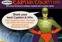 Captain Courtyard Contest / Enter to win a #Wondercation to #Niagara #Falls. The more you share the more chances you have to win. http://www.nfcourtyardbymarriott.com/?purl=nfcpin / by Niagara Falls Courtyard