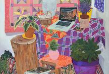 "Anna Valdez, ? / Based in Oakland. Her academic background is anthropology and video. ""In my work I attempt to combine these practices"". ""Many of my pieces have been still life... These items exist as a part of my domestic environment, and I have put them in my paintings to understand the domestic sphere as emblematic of both personal and collective experience""."