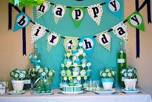 Baby Boy Party Ideas / Theme Ideas for Baby Boy K's Birthdays: Frog Prince Robots Bugs Fall theme/leaf/little pumpkin / by Kendy Kovalik