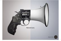 Words Kill Wars / Join our Dialogue for Peace and choose Words over Wars.