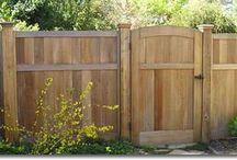 Cedar Fences, Gates & Garden Bridges