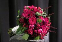 Bruidsboeket roze rood / Schitterende kleurencombinatie ❤️