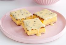 Passion fruit vanilla slice / Slices