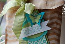 Tags & Bags...Stampin' Up ideas / Gift packaging ideas using Stampin' Up!'s products. Shop online 24/7 at www.karagolby.stampinup.net.