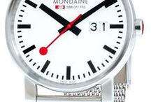 Mondaine Watches /  Mondaine watches are often seen as setting the standards. The company has introduced features like dual time zones, world time, date function and chronograph. Mondaine is also relying on green technologies in its production processes. http://www.jurawatches.co.uk/collections/mondaine-watches