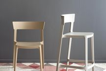 high chair NIKS-HS / W515 D480 H780 SH450   屋外使用可  本体:ポリプロピレン(5色)MB(マットブラック)・MW(マットホワイト)    ・MN(マットヌガー)・TA(トープ)・MY(マスタードイエロー)