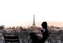 Oh la la!!! / J'ai deux amours: mon pays et Paris!  / by Maria Eugenia Muñoz