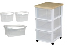 Organization Products / A selection of our resin storage units from our on-line store