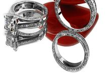 Princess cut cubic zirconia rings, sets, bracelets...in solid 14k white Gold and Platinum / Finest quality diamond replacement for the fraction of the diamond's price