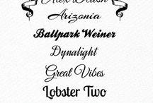 Fonts / by Angelique's Scraps ( digital scrapbooking)