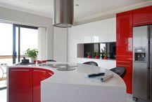 Kitchens red an white