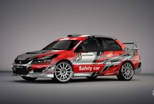 Mitsubishi Lancer Evo IX Safety Car / Design and wrap, first seen at Mikulášská Rally Slušovice 2014.