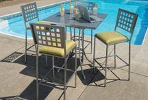Manhattan Seating Collection / Downtown or poolside, the Manhattan collection has an appealing contemporary style. This urban inspired collection is constructed of steel and is built to last. Attractive to both residential and commercial markets, this unique seating group is offered in both checkered and padded seating options. Available in various seat heights and style, the Manhattan collection is the perfect choice where durability and quality steel outdoor patio furniture is required.