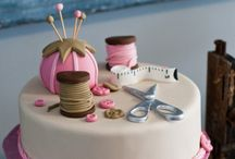 sweing knitting cake