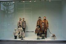 Dogs in shop windows