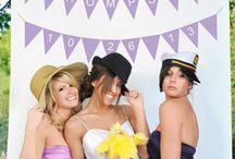 Wedding Photo Backdrops / Backgrounds / Make your wedding reception fun by adding a personalized background to either a photo booth that you're hiring or for friends to take their own photos with.