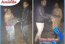 Ananda Winter Special Event!! / We have distributed woolen to the poor & needy people. We have tried to go an extra mile in trying to bring a smile on their faces. We are happy to help the less fortunate. join us in our future events. Wonderful moments captured here - #Ananda #PureHappiness