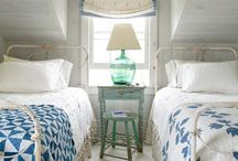Blue & White / Classic blue and white quilts and home decor...so beautiful!