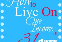How To Live on One Income & Frugal Living / Learn how to reduce your spending to live off of one income. Frugal living tips and tricks to help you budget your money. Live a sustainable life.