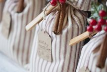 Christmas basket ideas / Thinking a basket with: jar of cake ingredients and recipe, jar  of local marmalade and honey, local wine, homemade pesto, homemade choc, and a printed teatowel