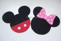 Posavasos Mickey y Minnie Mouse en Fieltro