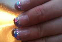 Nails / Little jewels glued on tips / by Wendy Coulton