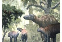 Maiasaura and Dung Beetles / Commensalism