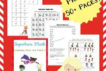 Math Printables / Math printables to help kids boost math skills. Math worksheets, homeschool worksheets, math activities, and tons of hands-on math ideas.