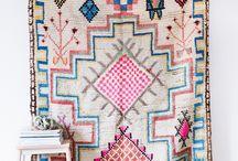 Vintage Moroccan wall rug