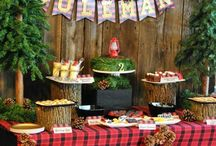 Lumberjack/ Camping Party Inspiration / Party Inspiration, Lumberjack party, party decorations, camping party theme, boy scouts party, CAMPING THEMED WEDDING, PLAID WEDDING