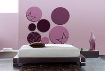 habitación nenas violeta