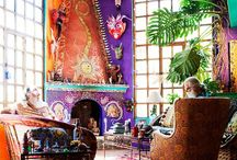 Boho chic, gorgeous gypsy, eclectic colorful interiors