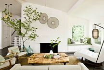 living and family rooms / by Sarah Jacobsen