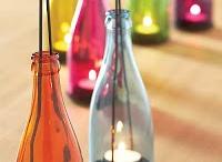 botellas recicladas (decoración)